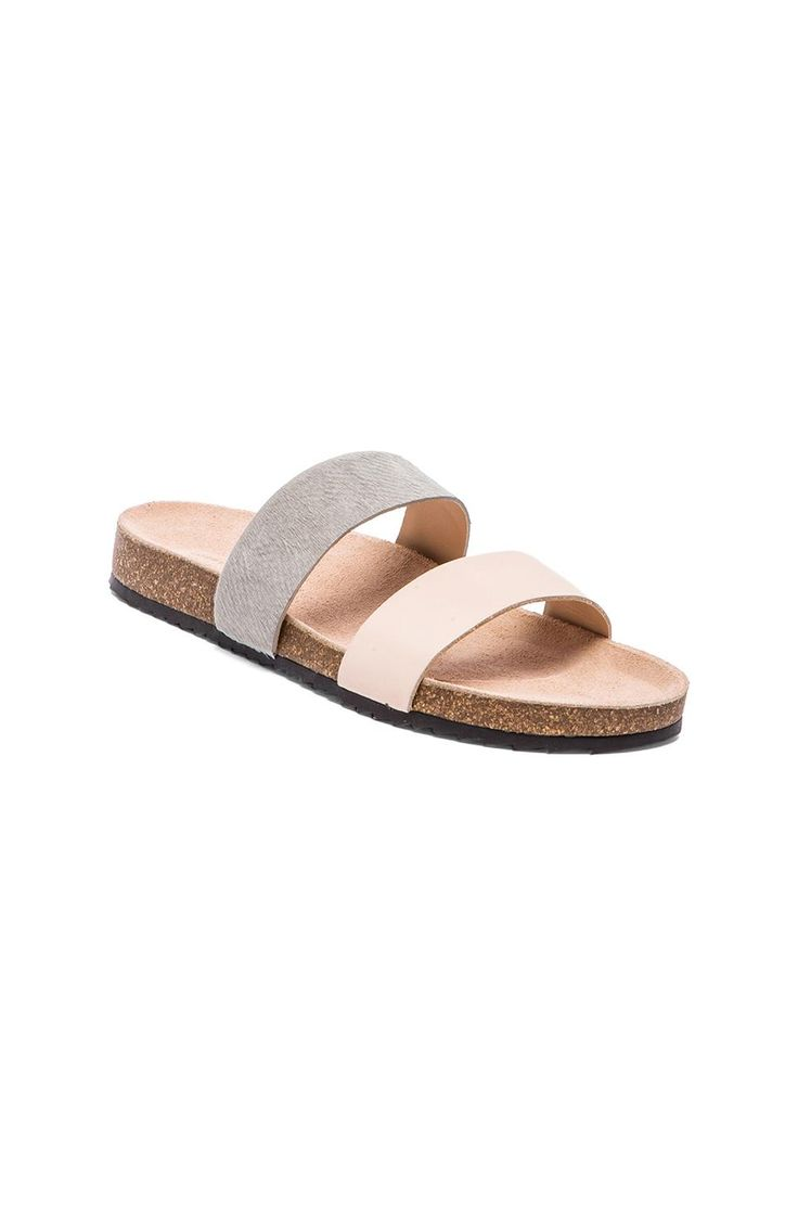 Shoes zone sandals - Loeffler Randall Paz Sandal With Calf Fur In New Natural Cool Grey