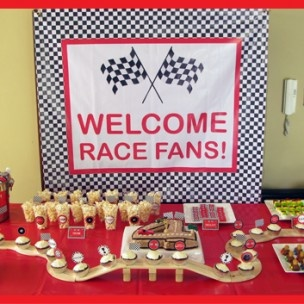 Racing car themed birthday party