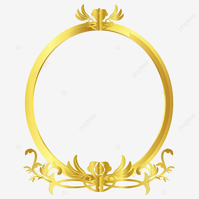 Gold Floral Oval Frame Vines Frame Vector Picture Frame Decorative Yellow Png And Vector With Transparent Background For Free Download Oval Frame Gold Frame Frame