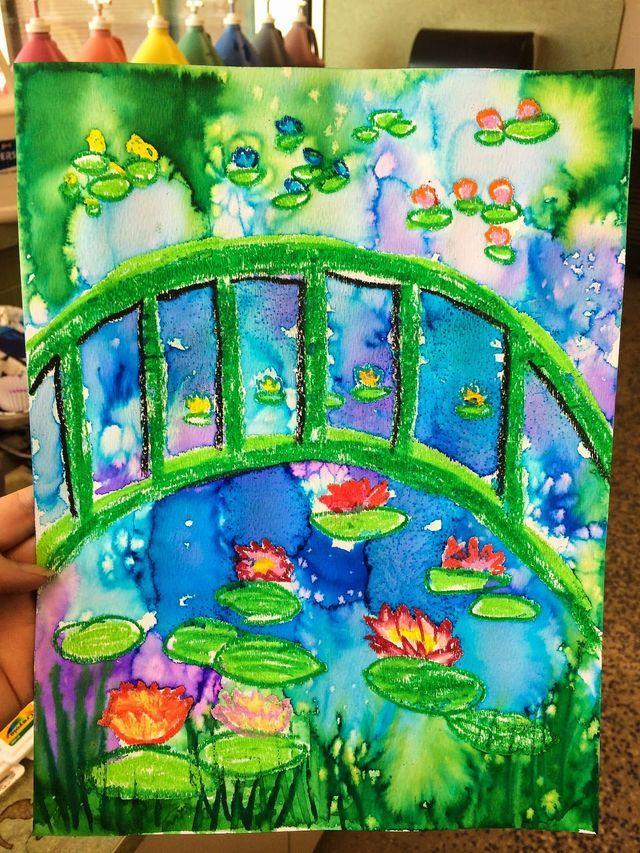 Claude Monet S Garden 1st Grade Smart Class Spring Art Projects Elementary Art Projects Kindergarten Art