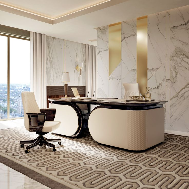 Vogue collection italian luxury office desk for Best modern office interior