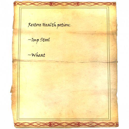 Restore Health potion: Imp Stool, Wheat