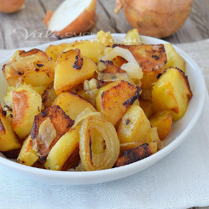 patatas cocidas al horno con cebolla