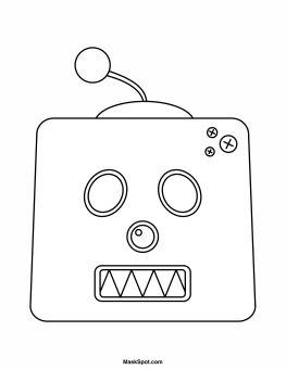 robot face coloring pages. Black Bedroom Furniture Sets. Home Design Ideas