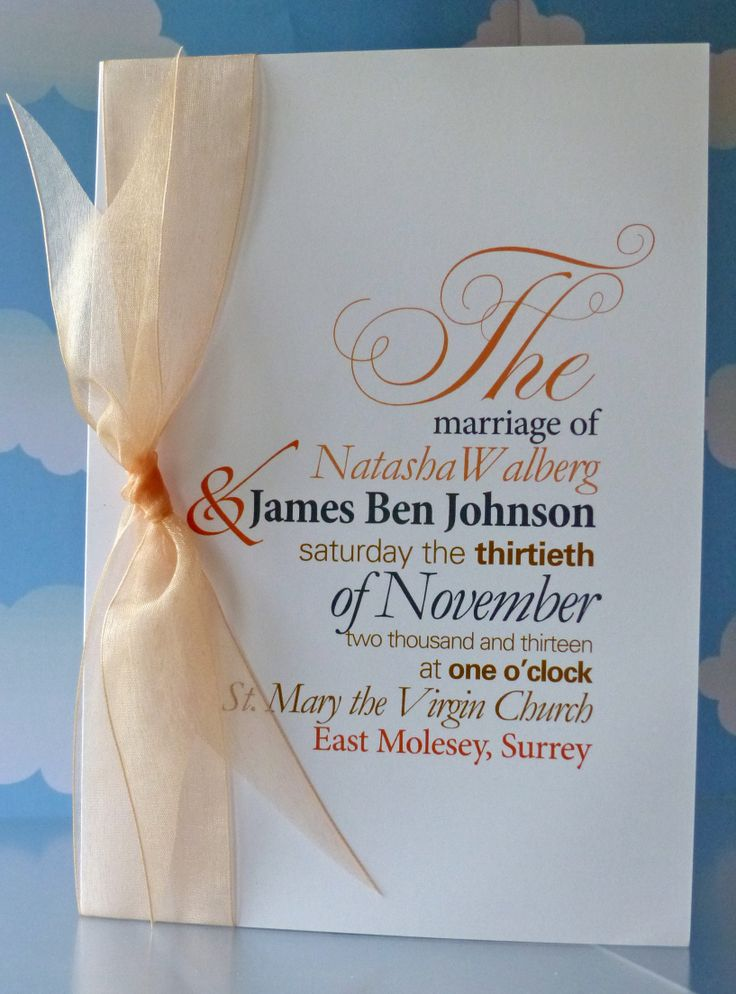 Choose your order of ceremony to match your invitations.... www.heathermarten.co.uk