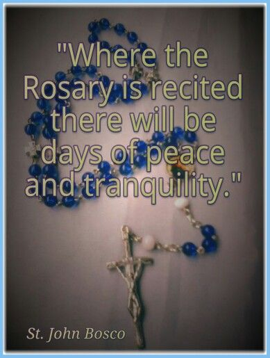 The power of the Rosary - remember that Our Mother crushed the head of satan!