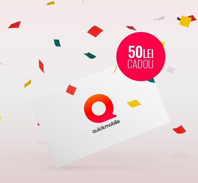 QuickMobile – 50 de lei voucher cadou.