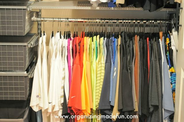 17 best images about organized closets on pinterest for How to color organize your closet