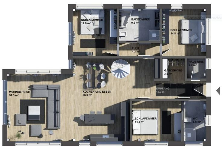 K-MÄLEON Hybridhaus // Winkelbungalow von K-MÄLEON Haus GmbH
