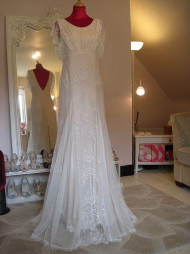 Wedding Dress Sample Sale: Belle & Bunty 'Ophelia' Blush sz10 ex-sample dress, UK 10, US 6, £1125.00