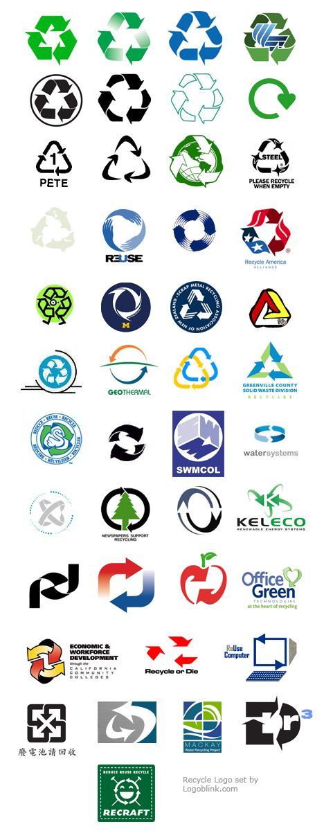 44 RECYCLE logos and symbols - Logoblink.com