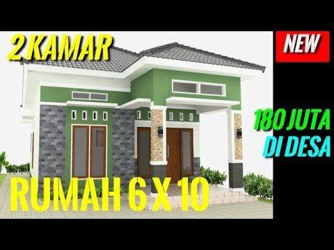 Desain Rumah Minimalis Sederhana 6x10meter 2 Kamar 1 Lantai Di Desa Modern Full Tampak Depan Youtube Rumah Minimalis Home Fashion Denah Rumah Pedesaan