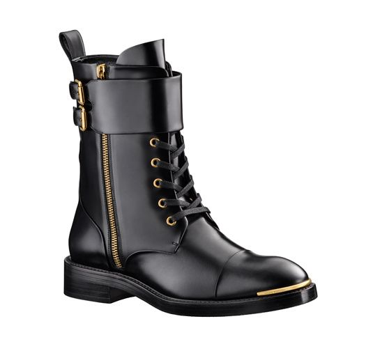Louis Vuitton leather military boots