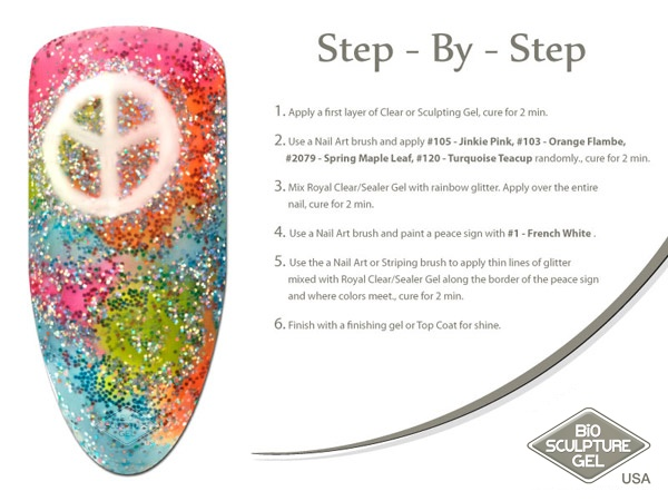 Peace sign step-by-step