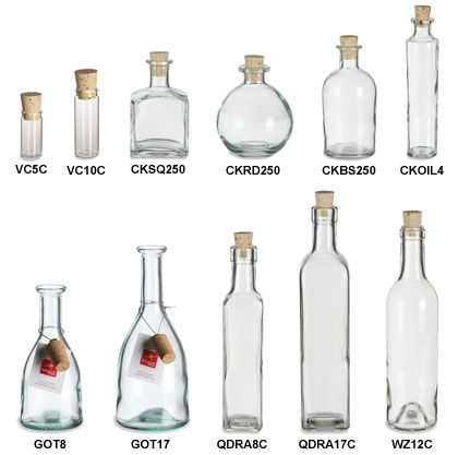 Crow-which bottle do you like? I like the round one.......Specialty Bottle - Corked Glass Bottles
