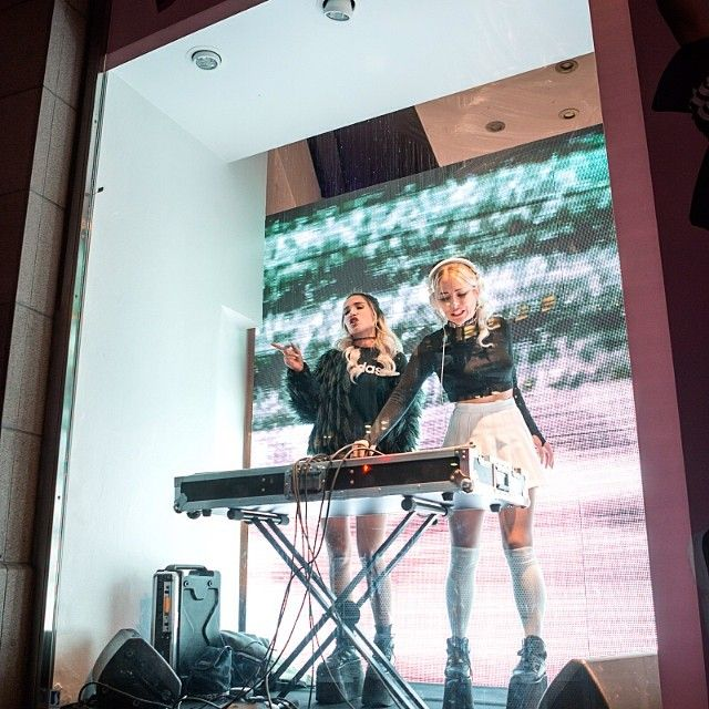 Rebecca & Fiona @ Beauty is Pain event at Adidas, Stockholm. Photo: Jonas Herjeby