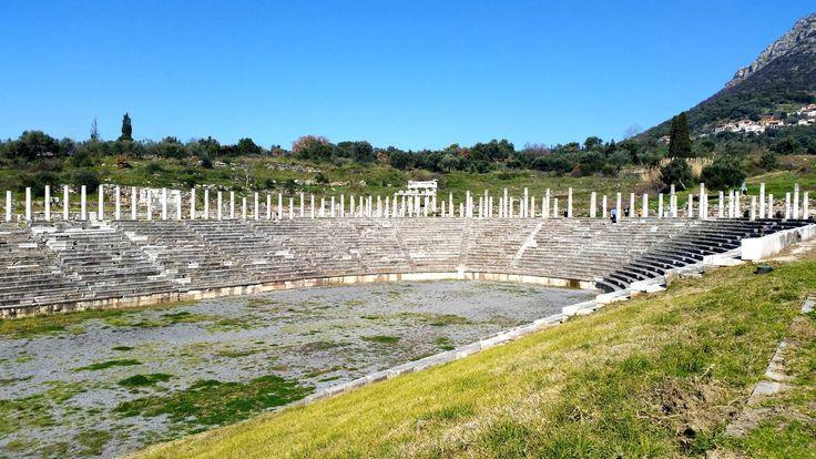 Ancient Messene - the stadium #ancientmessne #peloponnese #ancent #messene #greece #history #culture