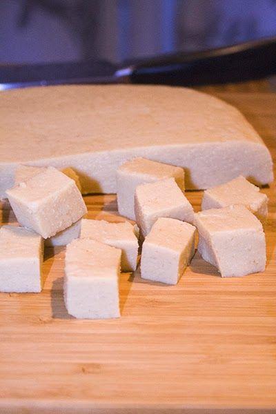 Comme du Tofu, mais au pois chiche.. Et c'est maison. ~ Sugar'n'Sale
