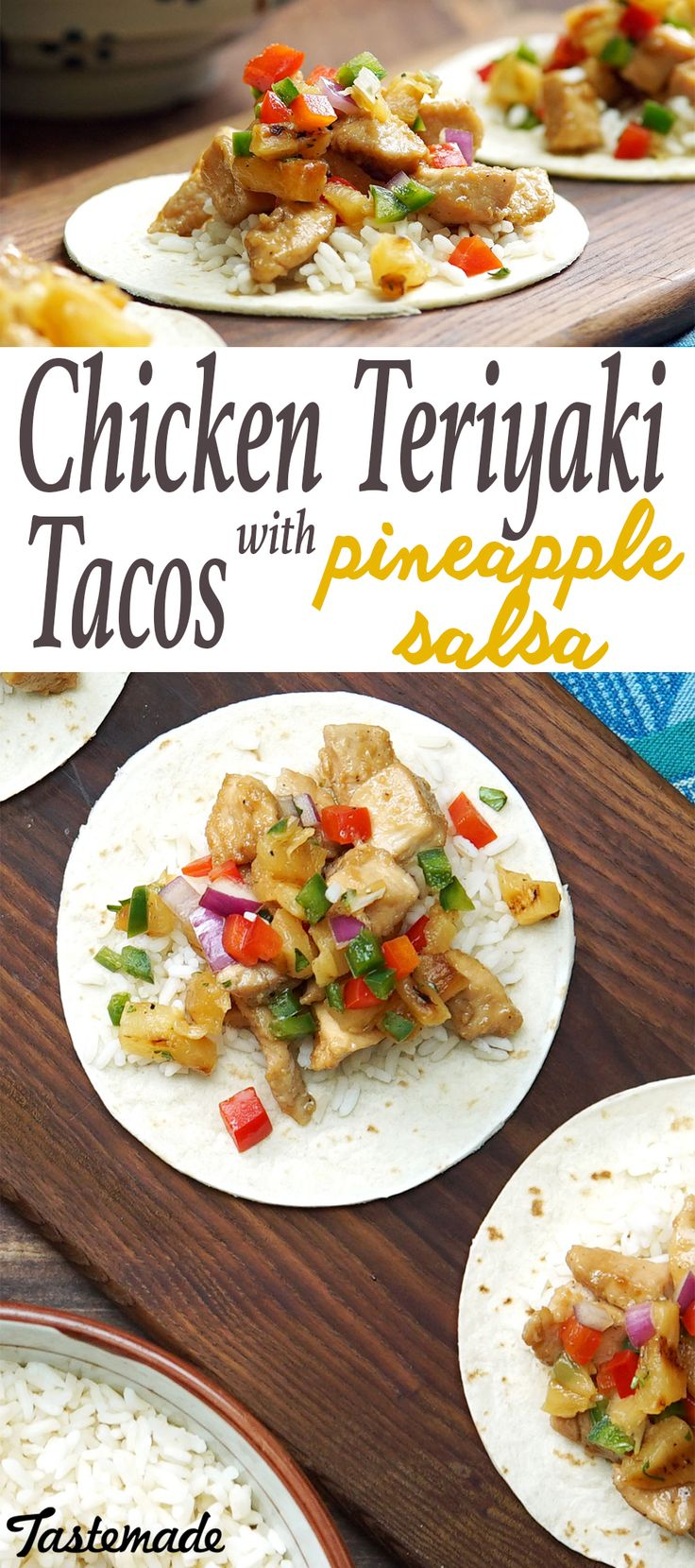 Put a refreshingly sweet twist onto chicken soft tacos with fruity salsa.