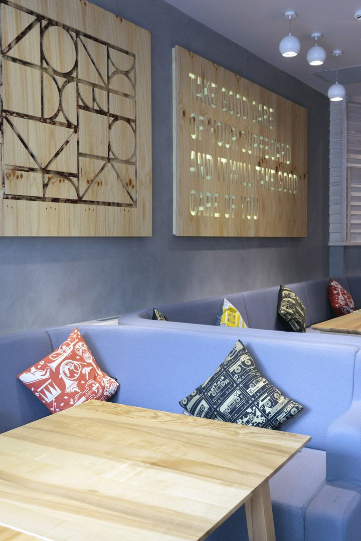 Painel - Cribbar surf bar by Absolute, Newquay   UK store design