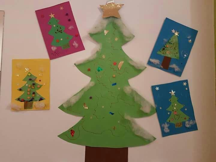 Christmas Tree Craft Ideas For Preschoolers Part - 19: Christmas Tree Door Decorations For School Christmas Tree Craft Ideas And  Activities Felt Christmas Tree Craft Ideas For Preschoolers Decorations 2017