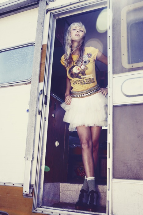 This is how I would wish to wear my Steelers shirt. Photographer: Ashley Echo Haber Model: Chelsea Miranda Miller. (2009)