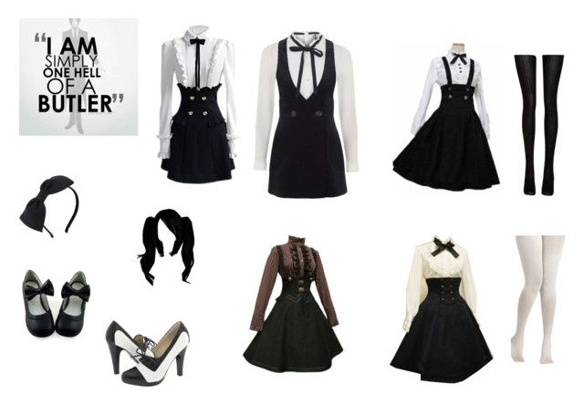 BUTLER GIRL by mayleneholm on Polyvore featuring Topshop, Fogal, Steve Madden and Kate Spade