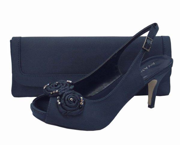 Menbur Avance Navy Blue Las Shoes Evening Shoeatching Bag Wedding