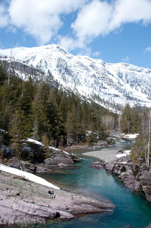 Back country creek in Montana....the extremely blue water is from glacial melt, which highly oxygenates the water.............such pretty creeks and rivers all over Montana!