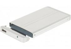 Boitier Aluminium pour disque dur IDE 2,5 argenté