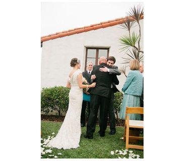 Bride's Escort Giving Her Away