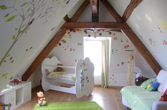 chambre d 39 enfant claire et lumineuse sous les combles de la d co pour les enfants pinterest. Black Bedroom Furniture Sets. Home Design Ideas