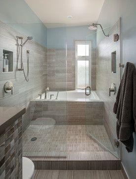 Sunset Hill- Micro-Modern - contemporary - Bathroom - Seattle - Whitney Architecture love everything about this