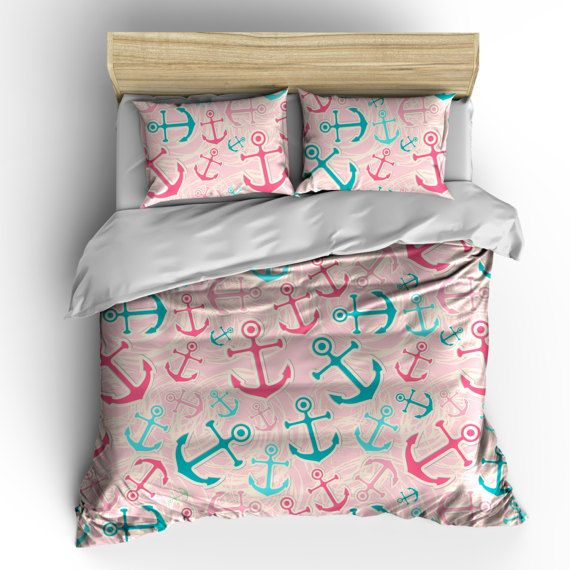 Custom Girls Anchors Bedding Brighten My Day Hot Pink by redbeauty