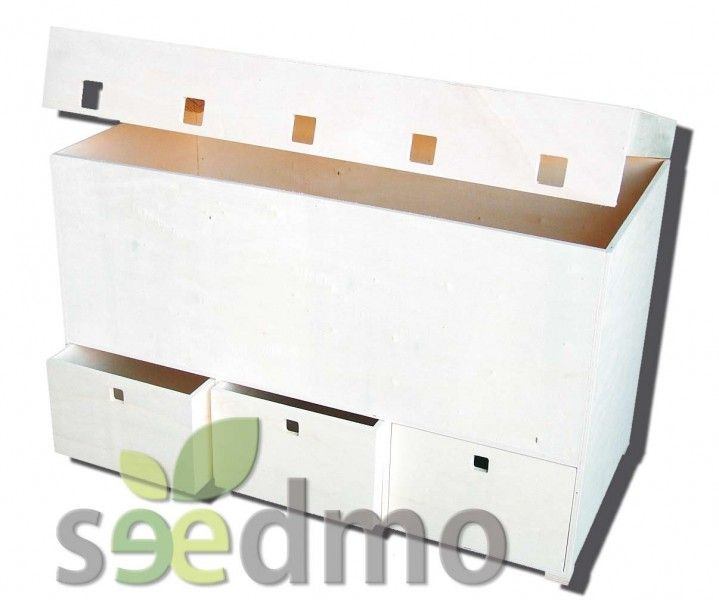 Baul de chopo con 3 cajones muebles decoraci n barato for Muebles decoracion baratos