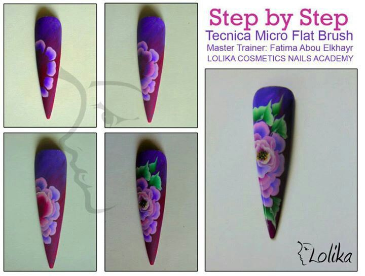 210 best thecnic one stroke nails images on pinterest nail art by brush strokesart brushsculptured nailsone prinsesfo Gallery