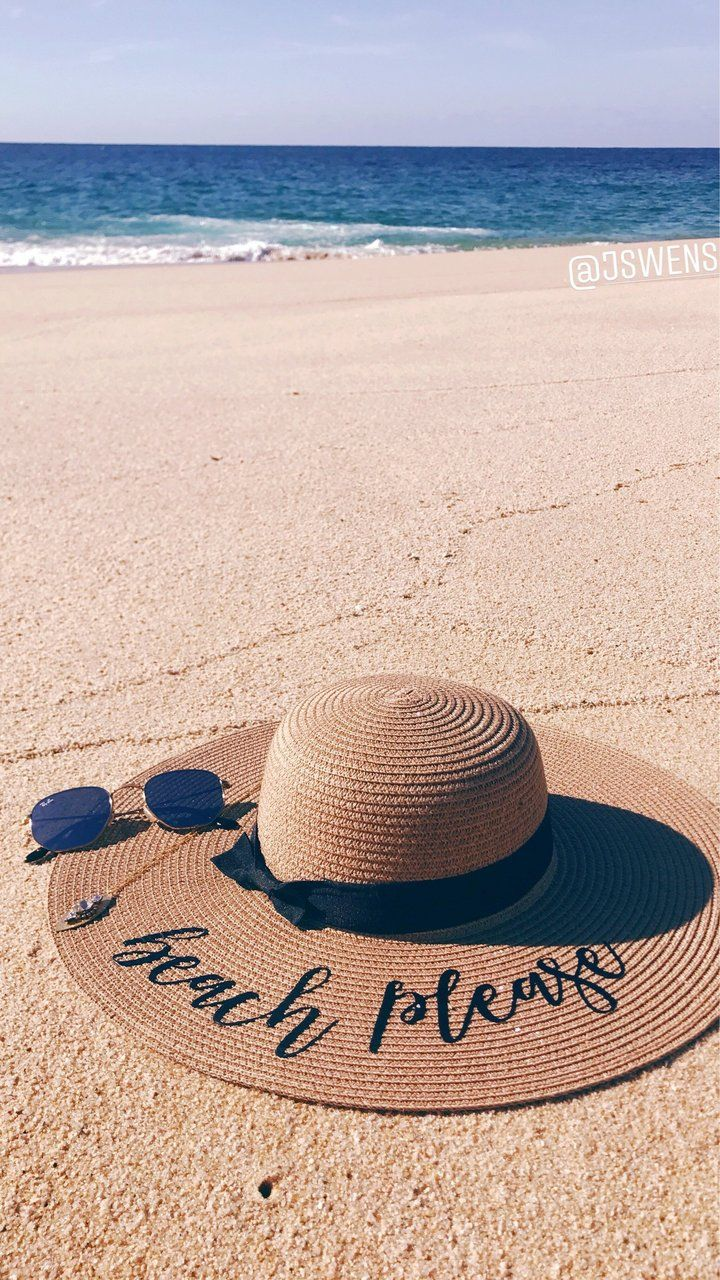 f28d92545 Custom Saying, Floppy Beach Hat in 2019 | SprinkledWithPink | Hats ...