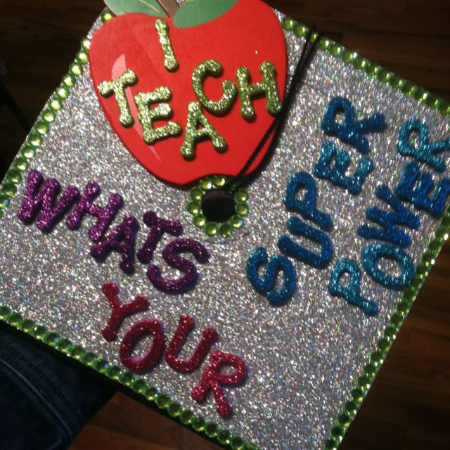 Graduating from college with bachelor of science in education.. This is how I decorated my cap!