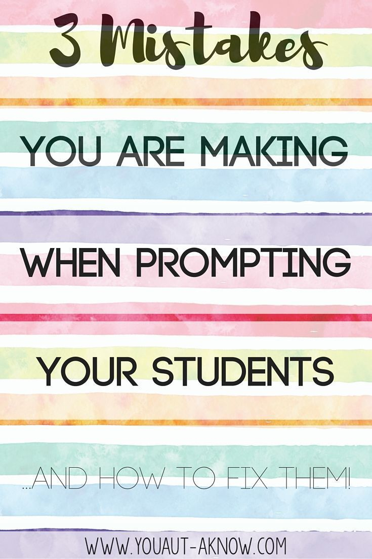 Top three mistakes you are making when prompting students in your special education classroom. Check out these easy changes I made in my Autism classroom to promote student independence.