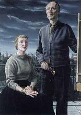 """""""De schilder en zijn vrouw (The Painter and His Wife)"""", 1957 / Carel Willink (1900-1983) / Private Collection"""
