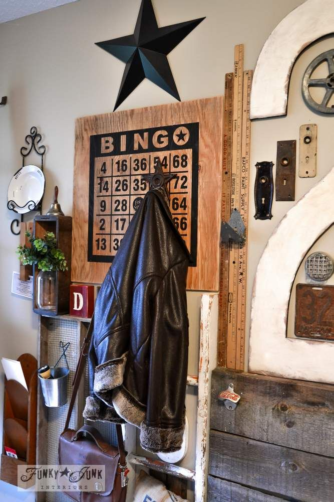 A junk filled summer home decorating tour ouija summer for Funky junk home decor newfoundland