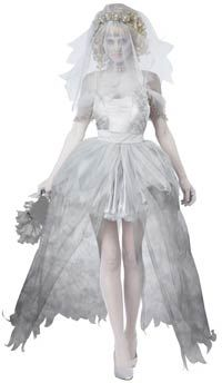 Sexy Ghostly Bride Costume - Ghost Costumes http://ghostcostumes.org/under-70