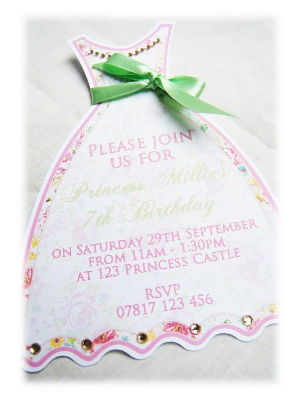 20 best childrens handmade invitations images on pinterest childrens birthday handmade greeting cards stationery princess dress childrens birthday party invitations handmade by garden of eden stationery bookmarktalkfo Images