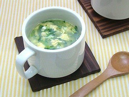 簡単!菜めしのたまごスープ