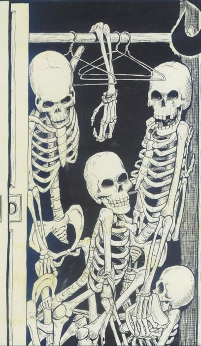 skeletons in the closet:
