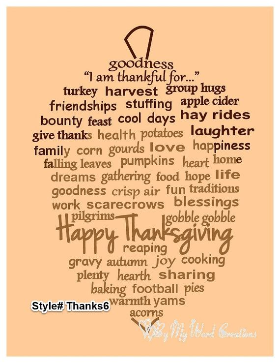 Handmade Thanksgiving Acorn word art by ByMyWordCreations on Etsy, $20.00