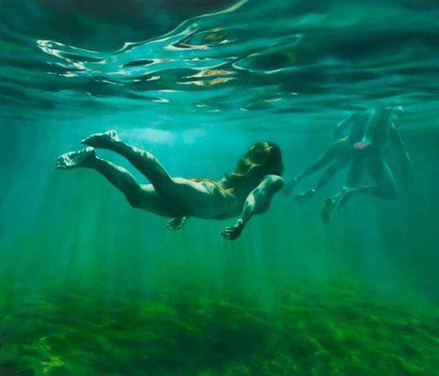 Underwater Paintings by Martine Emdur