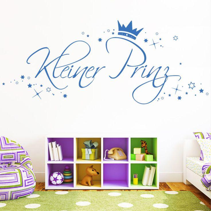 Fabulous Details zu Wandtattoo Loft Kleiner Prinz Sterne Krone Jungen Kinderzimmer Baby Junge