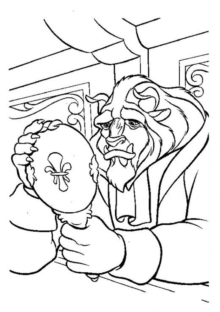 Beauty And The Beast Coloring Pages Free From Printable Beauty And