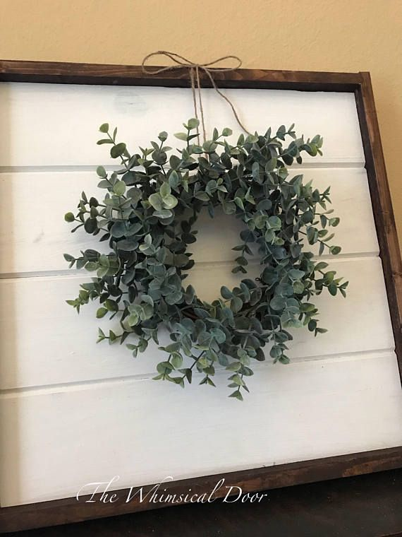 Farmhouse wreath - eucalyptus wreath - boxwood wreath - fixer upper wreath - lavender wreath - mini wreath - window wreath farmhouse decor frosted eucalyptus wreath Add the perfect amount of farmhouse charm to any space with this mini eucalyptus wreath. A great accent for windows,